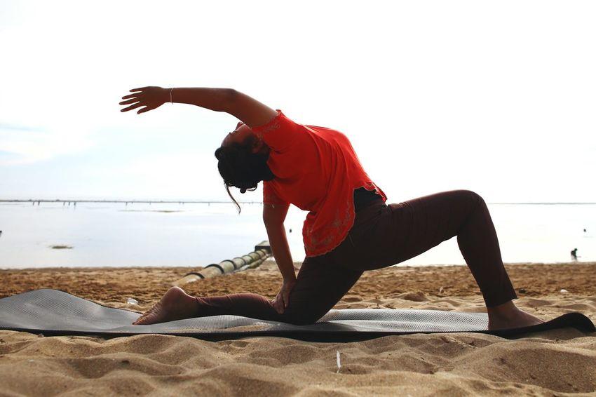 Relax Women Around The World One Person Sport Beach Lifestyles Outdoors People Real People Nature Day Women Yoga Yoga Pose Yogaeverywhere Yogapractice EyeEm Indonesia Week On Eyeem Bali, Indonesia