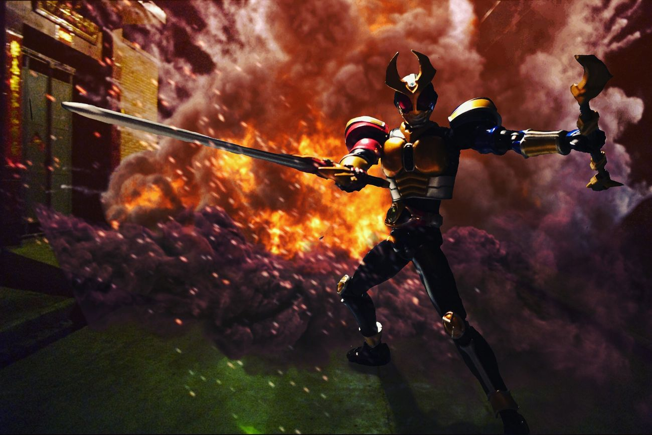 Kamen Rider Agito Trinity Form finish move. Agito Tokusatsu Kamenrider Maskedrider Shf SHfiguarts Actionfigures Toy