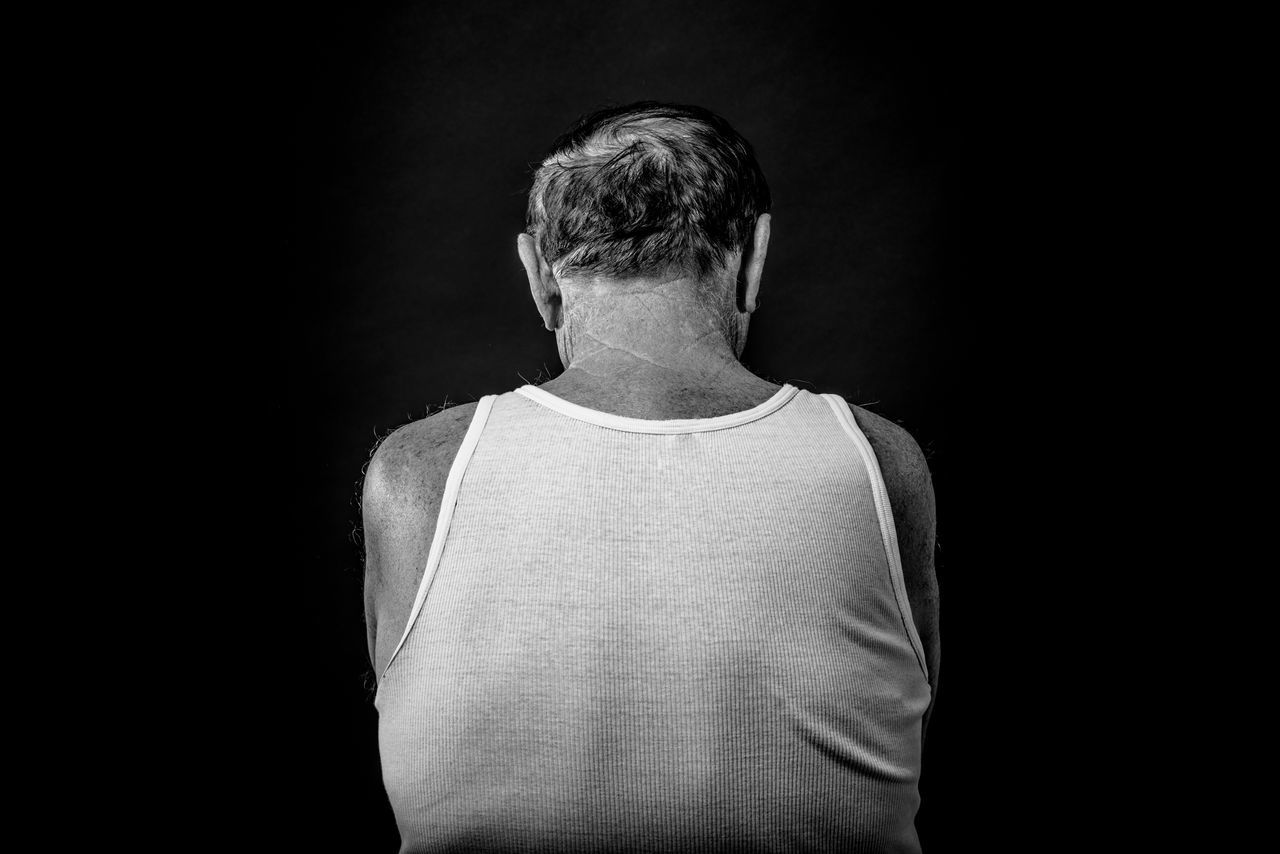Adult Adults Only Back Black And White Black Background Black Background Blackandwhite Close-up Looking At Camera Men One Man Only One Person Only Men People Portrait Portrait Photography Real People Senior Adult Senior Men Studio Photography Studio Shot BYOPaper! The Portraitist - 2017 EyeEm Awards