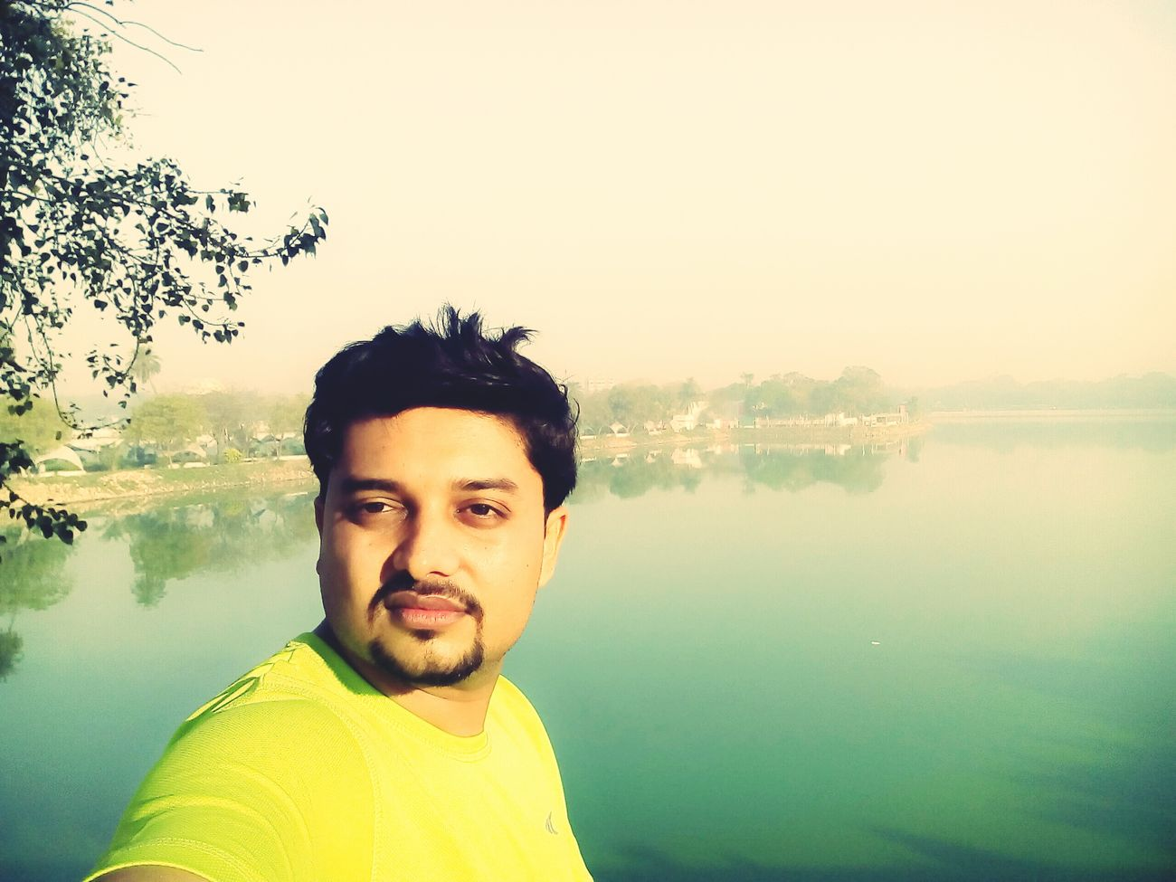 Sunday Morning.. selfie wid satisfaction of morning walk... hope this happens daily...