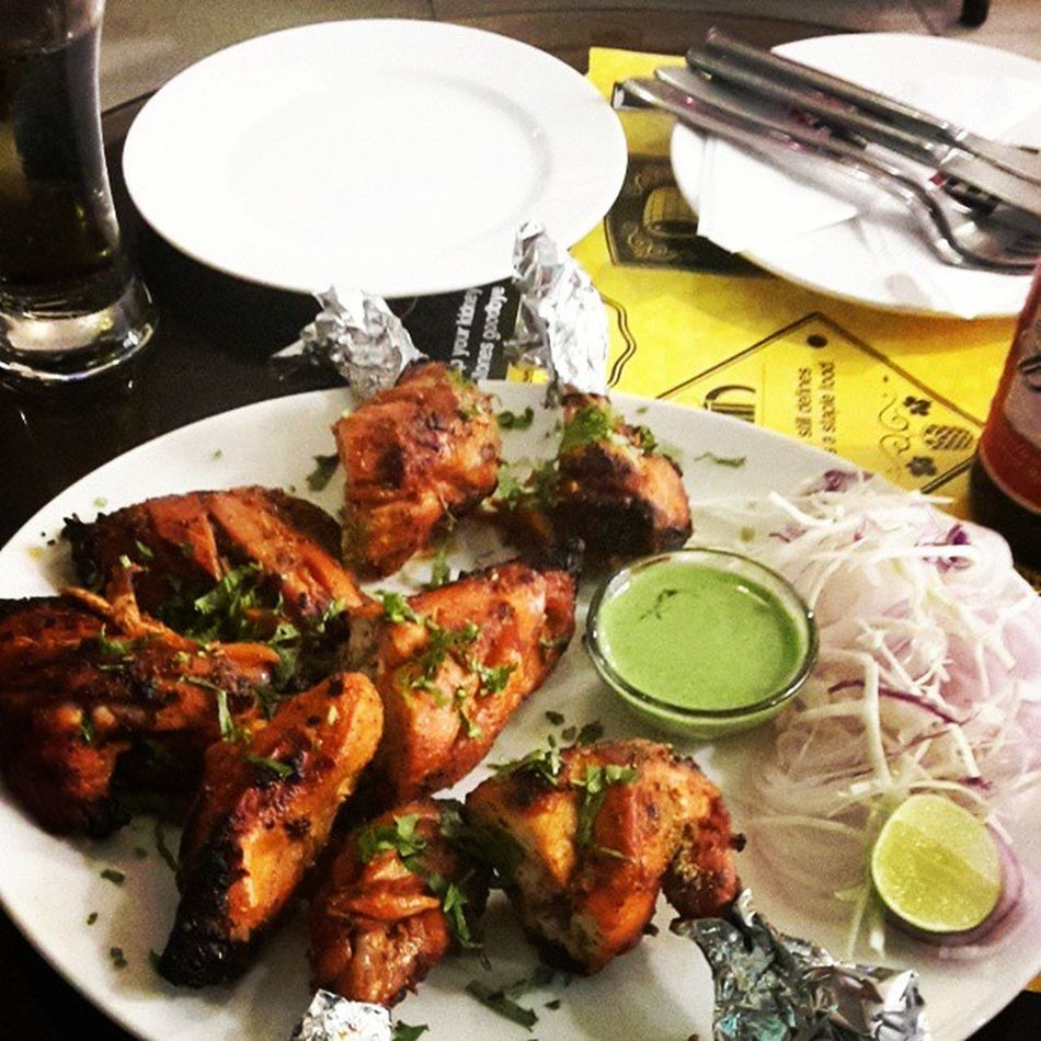 This is not just tandoori chickenThisIsTrueLOVE ? PYAAR × 8 PIECES..beer cafeBud King Saurabh bhaia fter a long tym?????????