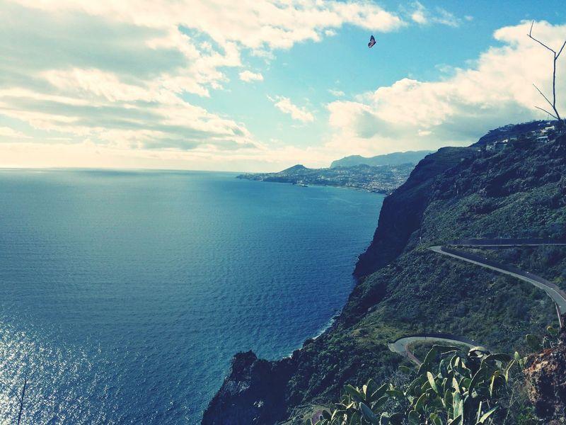 Blue Wave Love ♥ Madeira Island Grass Beutiful :) Sun Nature World Time To Reflect Rocks Mountain View Flowers Ocean View Beach Betterfly Sky Samsung Galaxy Note 3
