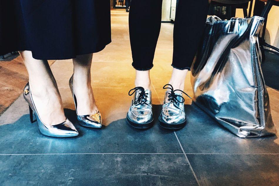 Chrome crew Silver Shoes Silver Bag Fashion Bloggers