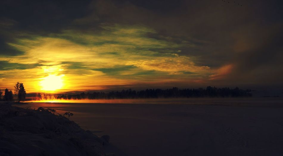 Cliche Mobile Photography Winterzone Sunset Panorama Mobilephotography