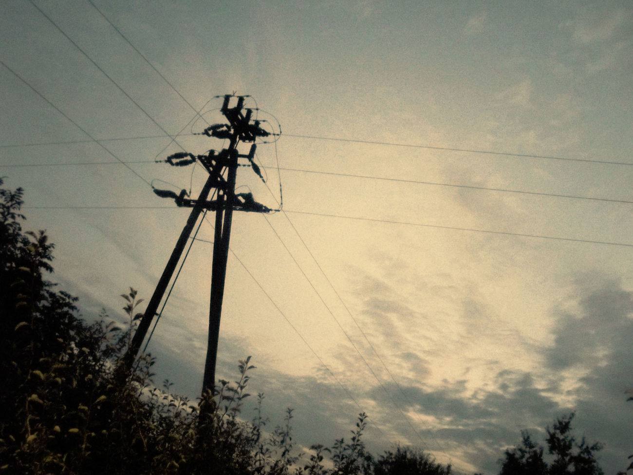 """I was looking for letter """"T"""" in nature. Are you see it? :) . I'm new on this web - it's so exciting! Hello everyone, guys! Atmospheric Mood Cloud Cloudscape Electricity  Electricity Pylon Electricity Tower Nature No People Outdoors Power Cable Power Line  Power Supply Sky First Eyeem Photo"""