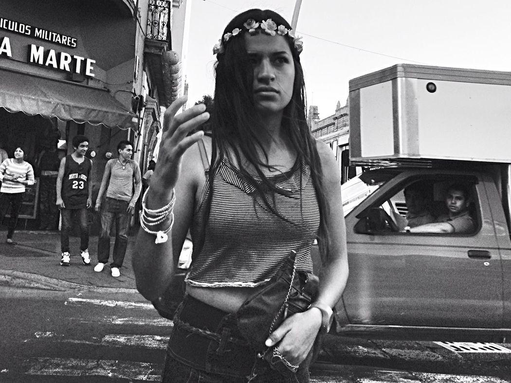 Flower crown NEM Street Streetphotography Monochrome Black & White The Street Photographer - 2015 EyeEm Awards Beauty Redefined