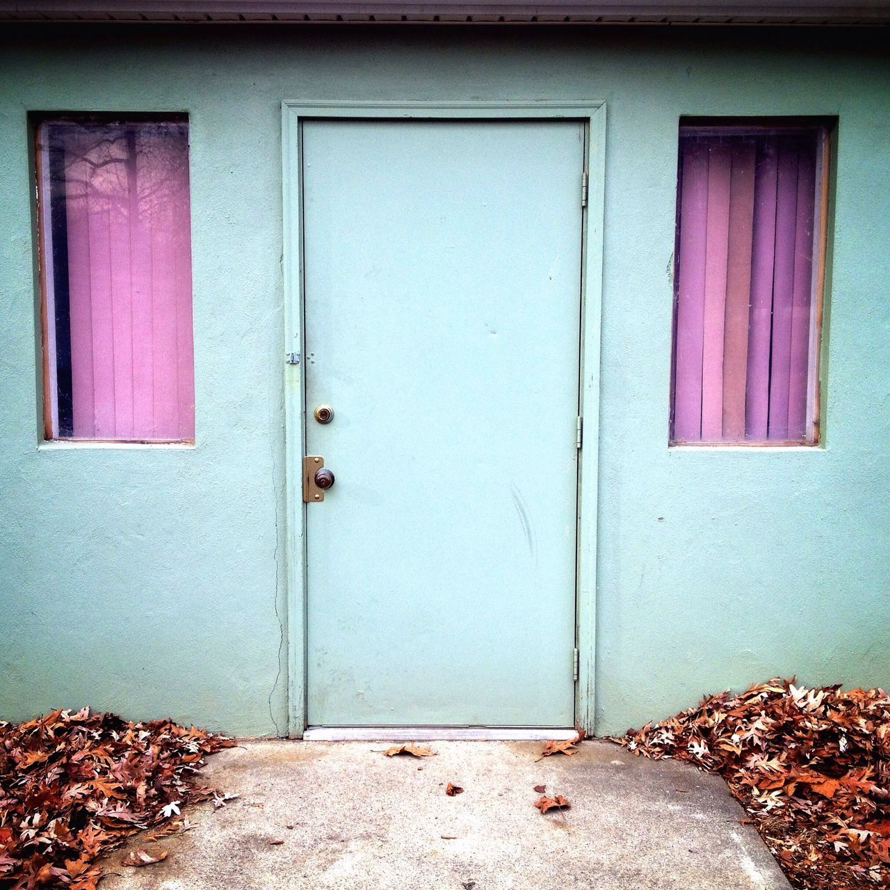 I found this weird little spot the other day. This is a door to a small town's water treatment plant. The pastels creeped me out a bit. Colors EyeEm Best Shots Shots Fltrlive EyeEm New Jersey IPhoneography