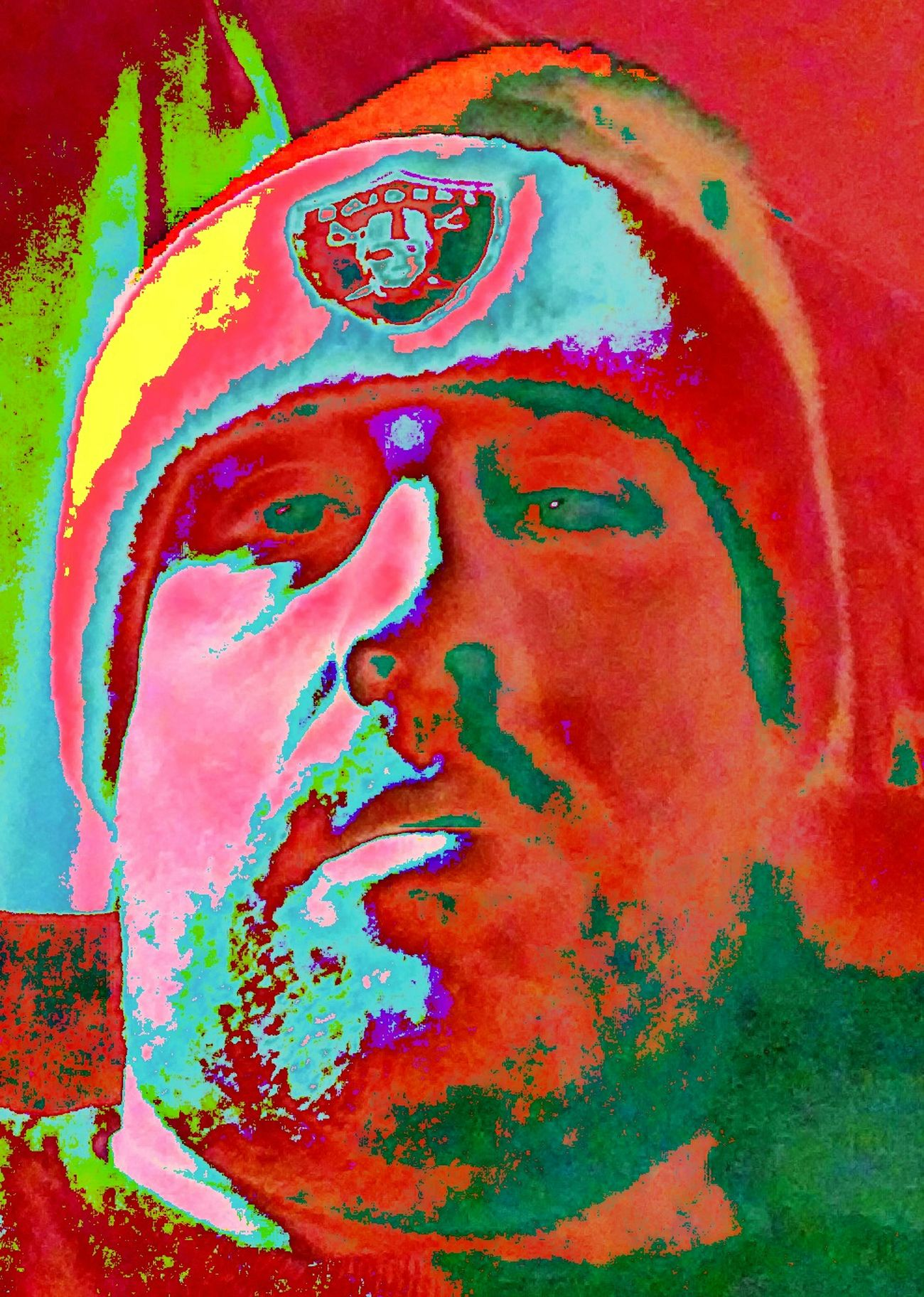 That's Me Selfie Photoeditorapp Edit Mystyle Santa Hat Christmastime Oakland Raiders