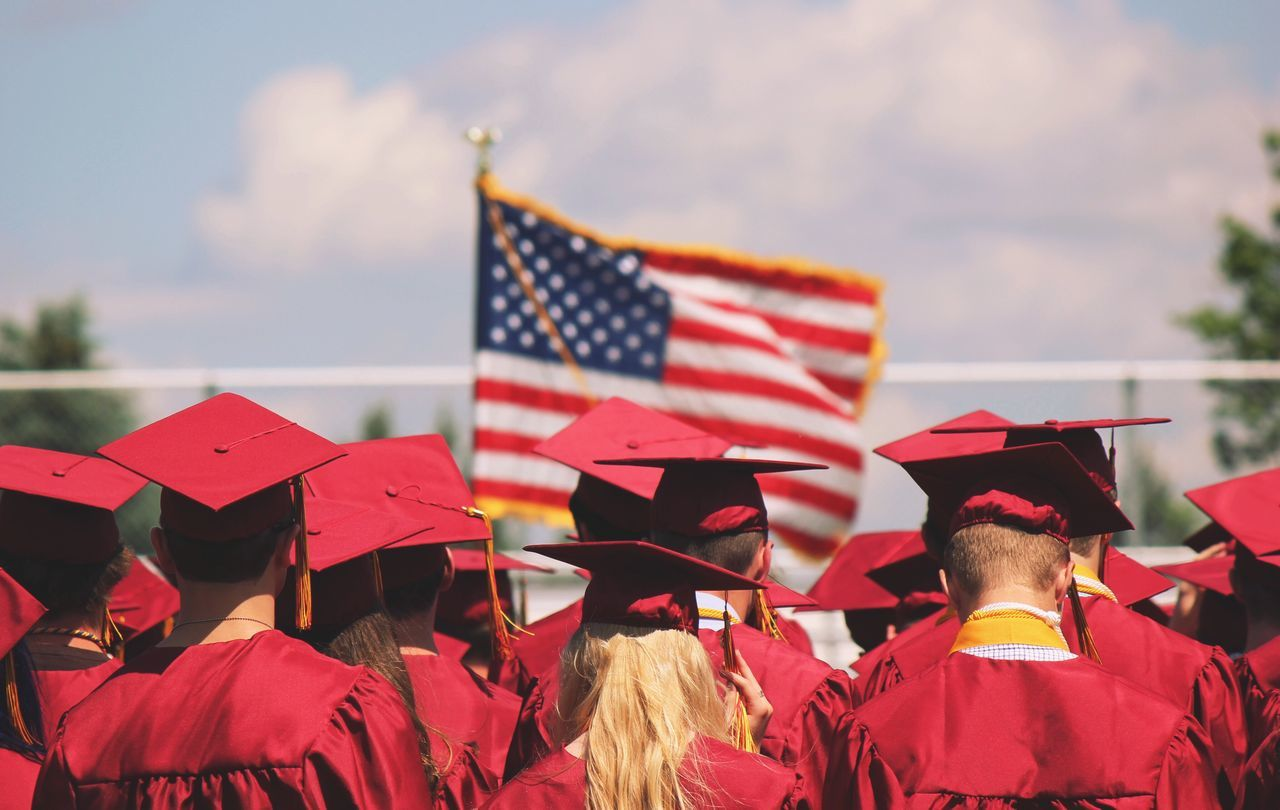 Beautiful stock photos of graduation, American Flag, Celebration, Classroom, Day