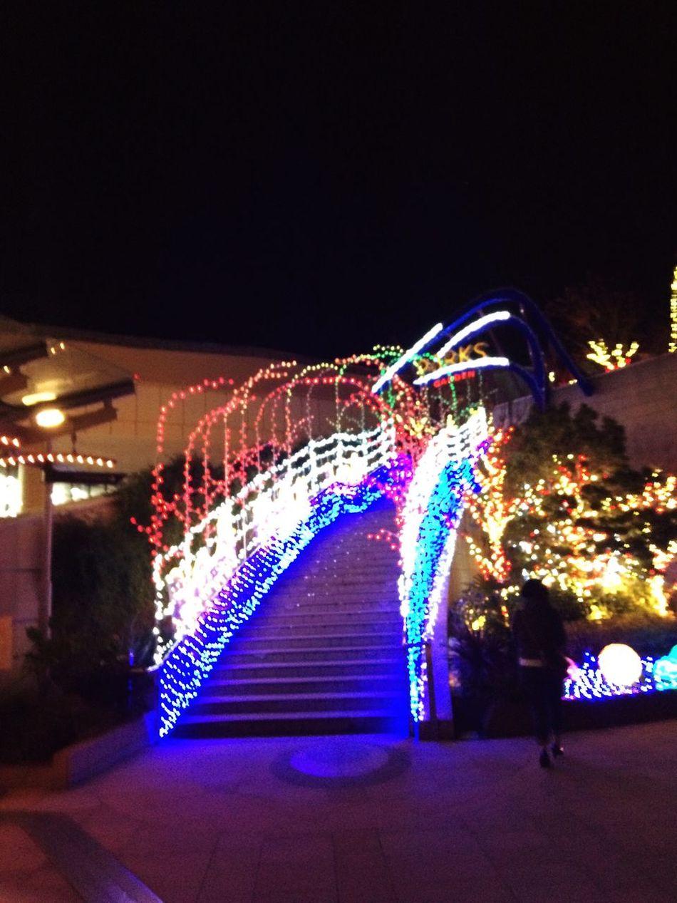 なんばパークスの光の階段 First Eyeem Photo
