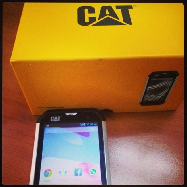 The CAT B15 smartphone. Built tough, made smart. Catphone Toughphone