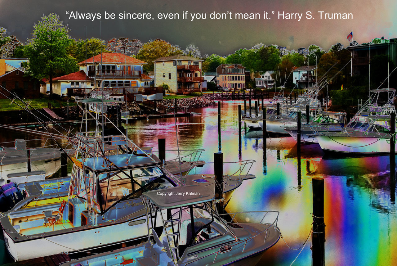Sure and begorra, it's #SaintPatrick'sDay and this time we #quote #PresidentHarrySTruman with a fanciful scene of a small boat marina near #VirginiaBeachVA. If this #quotograph resonates with you feel free to #repost for others to enjoy Boat Harry Tru Quote Quotograp Surreal Surrealism Virginia Virginia Beach Virginiaphotography
