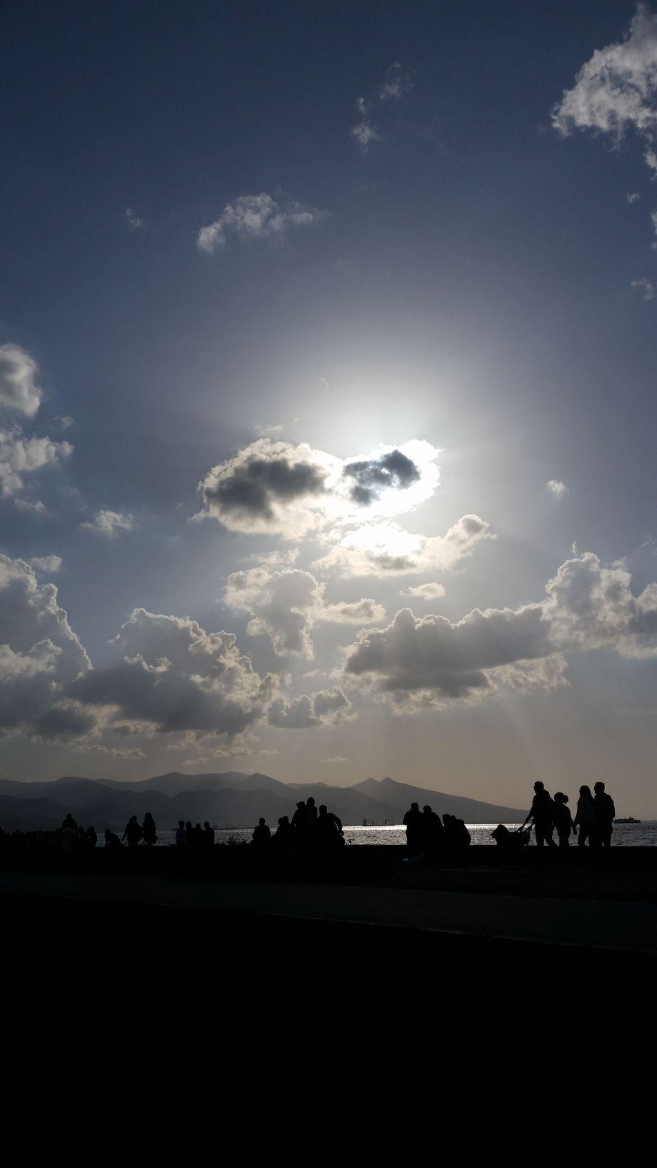 Azure Sky Clouds And Sun Alsancak Kordon Izmir Turkey ⛅