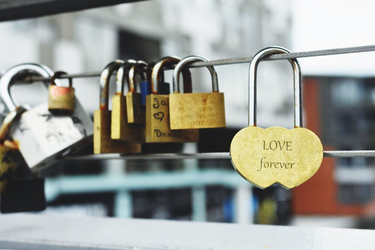 Love Padlock Security Love Lock Protection Safety Lock Metal Railing Love Hanging Close-up Hope Luck Faith Safe No People Trust Bridge - Man Made Structure Attached Macro