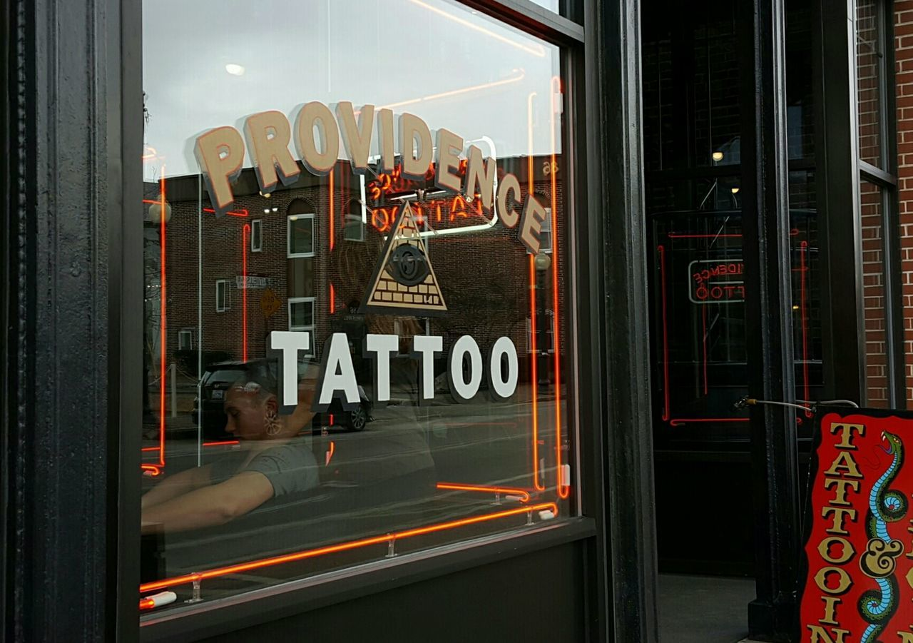 Love hurts. Window Outdoors City Tattoo ❤ Anticipation Street Photography Store Fronts Reflection In The Window EyeEm Best Shots Rhode Island Photography⚓