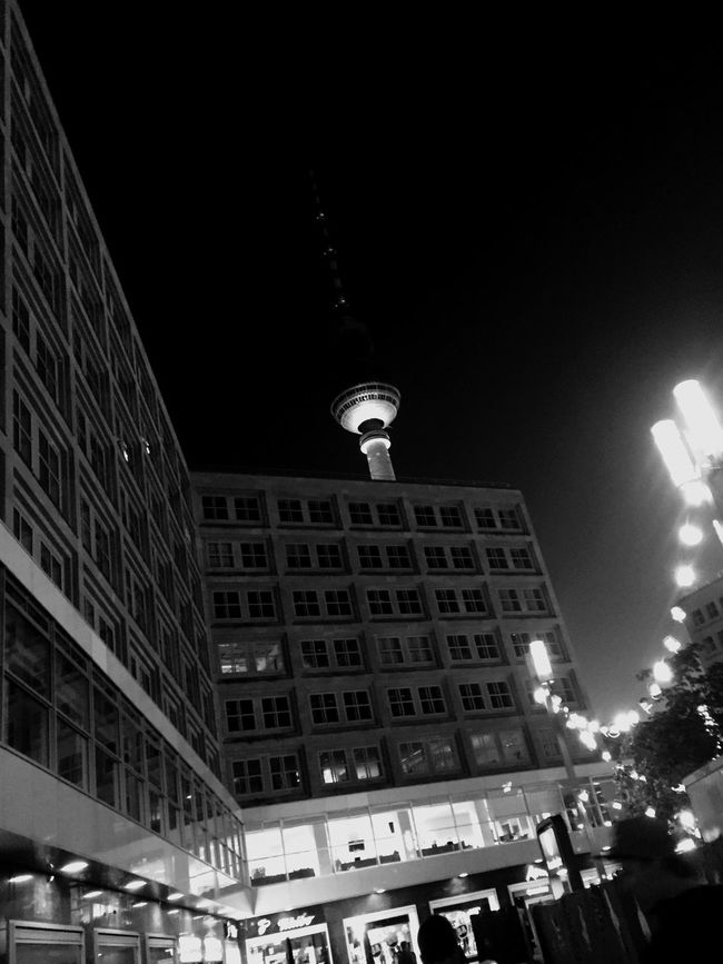 Blackandwhite Fernsehturm At Fernsehturm | Berlin TV Tower