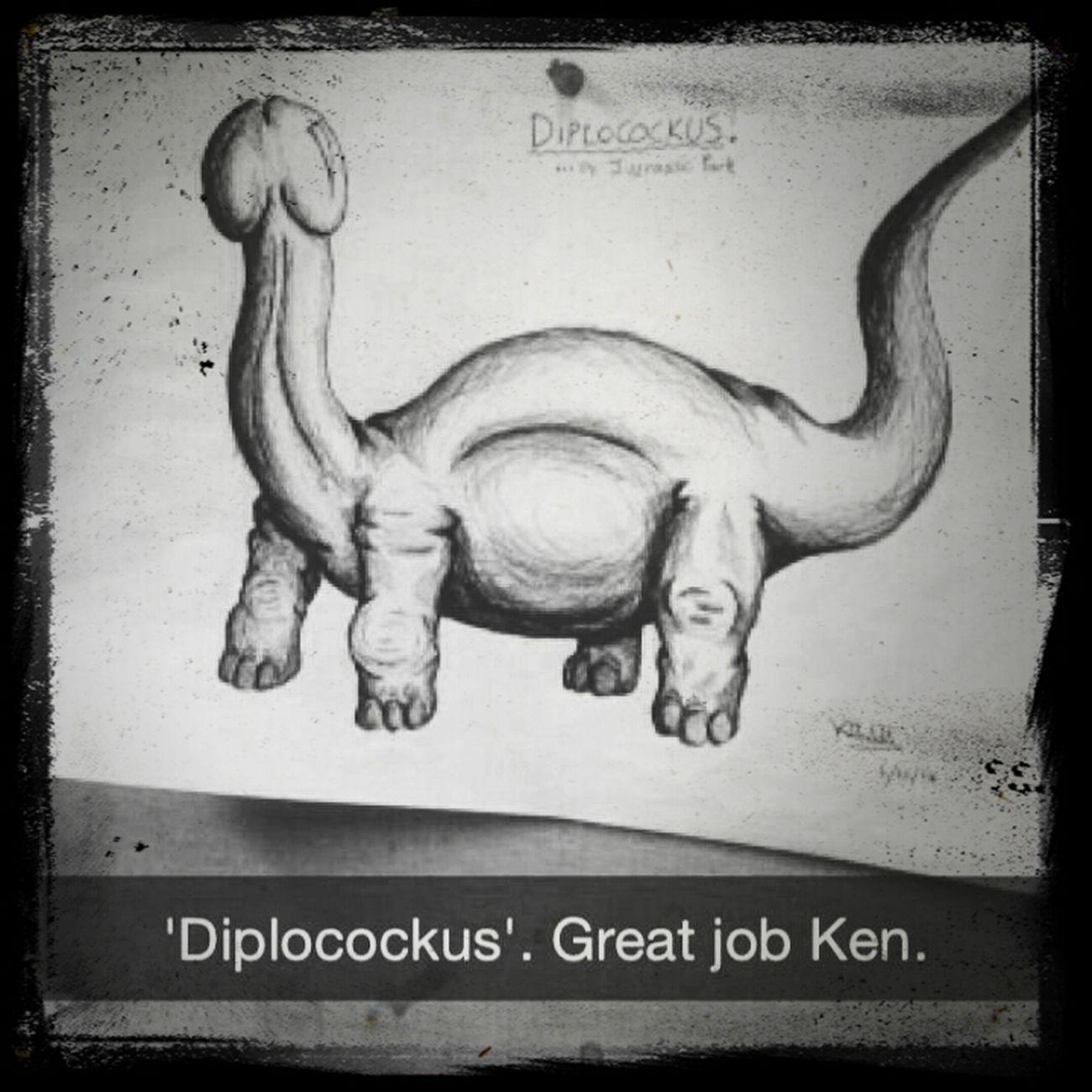 Dinosaur Diplocockus Drawing Details