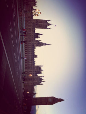 Hanging out at Westminster Bridge by Zeny