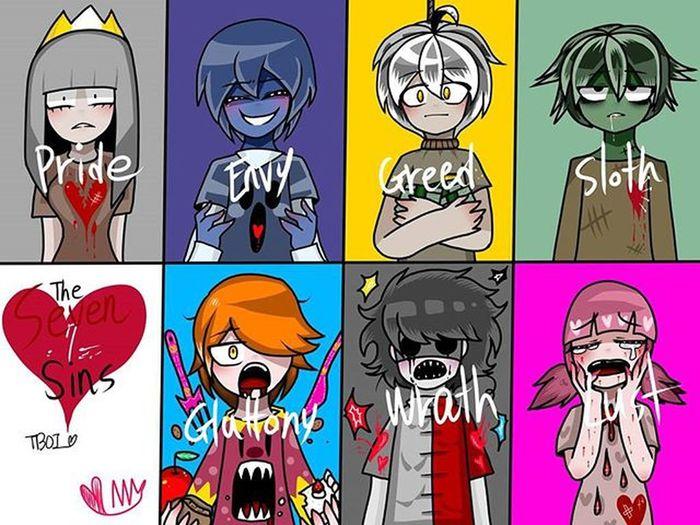 Tboia Tboi Tboir Pecadoscapitales Cute Anime Lust GREED Wrath Pride Envy Sloth Gluttony 7sevensins