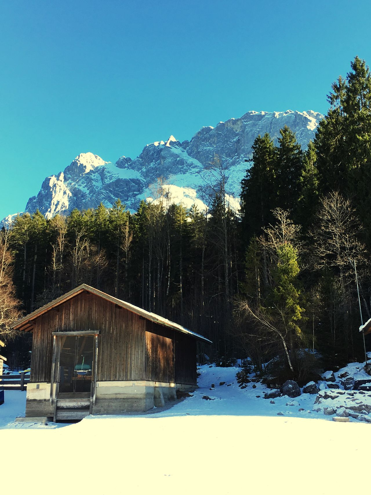 Beautiful Day at the Eibsee ! Walking on a Frozen Lake was a first for me but it was Amazing