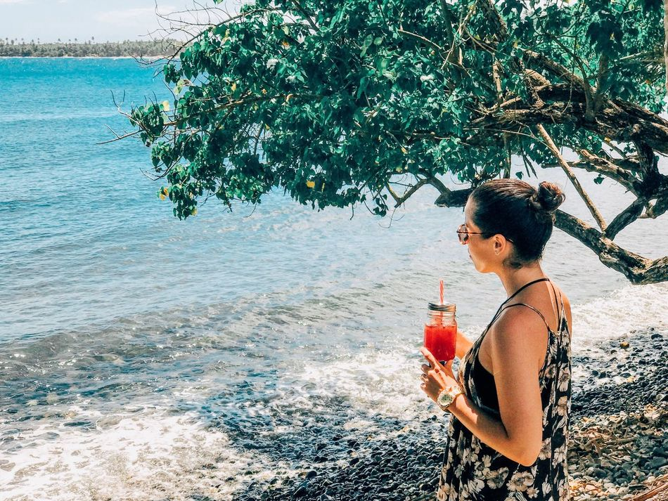 Sea Water One Person Drinking Only Women Day Tree Outdoors Young Adult Food And Drink Nature Beach Leisure Activity Drink Young Women Real People My Travel Bookmarks Standing One Woman Only Adult Vacation Travel Landscape Neighborhood Map Done That.