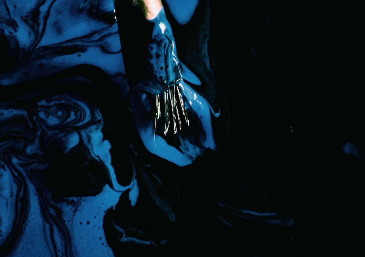 art is art is art... Abstract Art Art And Craft Black Blending Blue Bristles Close-up Color Palette Dark Paint Paint Brush Pigment Swirls