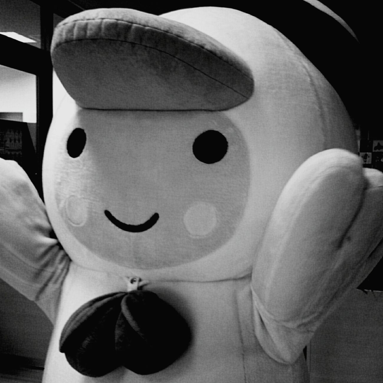 Hokkaido,Japan ご当地キャラ Tomachop Black & White Monochrome とまチョップ(・ω・)。