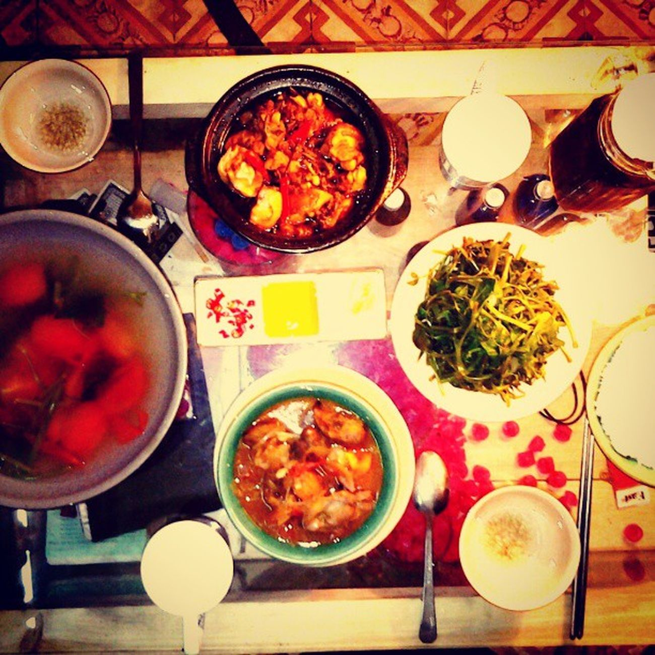 A very first dinner I have cooked since I moved to my new place after almost a month. An Ơi's cuisine. :3