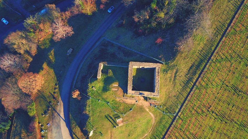 High Angle View Outdoors Tree Night No People Nature Castle Ruin Ruins Drones Droneshot Dronephotography Drone  Dji Mavic