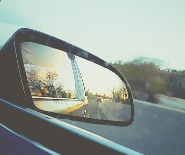 Live For The Story Car Window Transportation Mirror Vehicle Mirror Driving Side-view Mirror Travel Reflection Road Road Trip Mode Of Transport Land Vehicle No People Day Sky