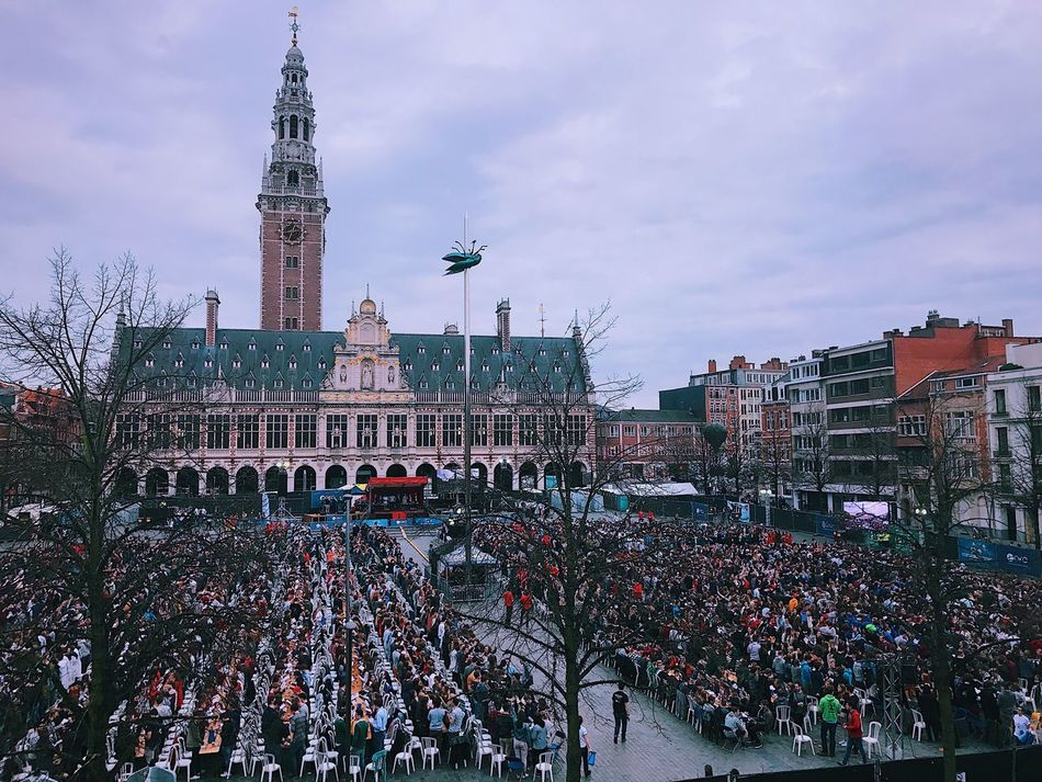 Enjoying Life Crowd Drinking Architecture Leuven Leuven, Belgium Belgium Fun The Week On EyeEm