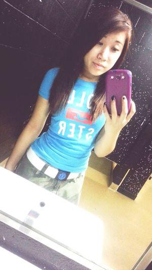 skippin . . . . .down the hall ;D Random Bored At School Bathroom Asian Girl Skipping Class Asian  #hollister