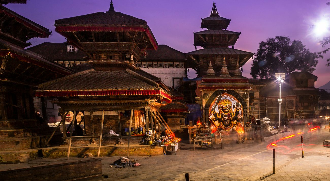Evening Shot Basantapur Durbar Square Streetphotography Long Exposure World Heritage Site
