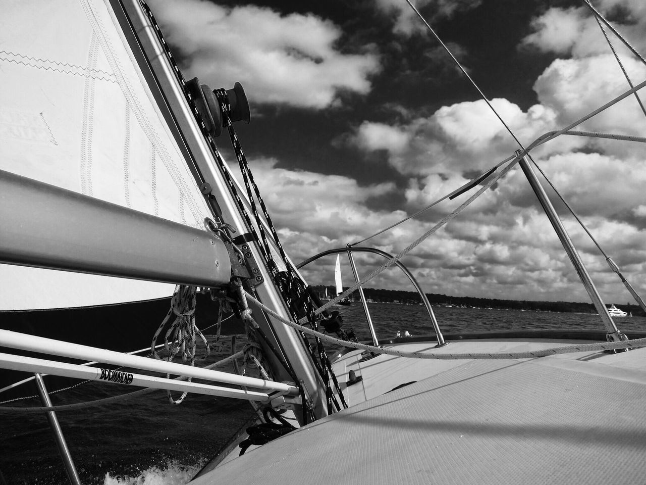 nautical vessel, sky, cloud - sky, transportation, sailing, mast, outdoors, sailboat, mode of transport, no people, sea, day, ship, rigging, yacht, water, nature, sailing ship, boat deck