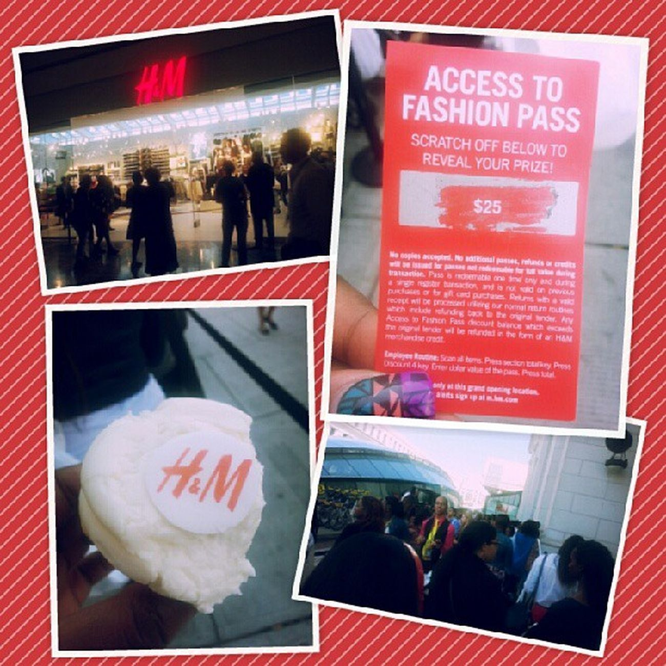 Left the grand opening of H&M at Union Station. I got $25 off, the lowest was $10, the highest was $300 off and the person who got that coveted three hunnid dollah discount was right in front of me in line *sigh* CongratsToHer SomethingIsBetterThanNothing Handm Hm GrandOpening UnionStationDC DC DCchillin