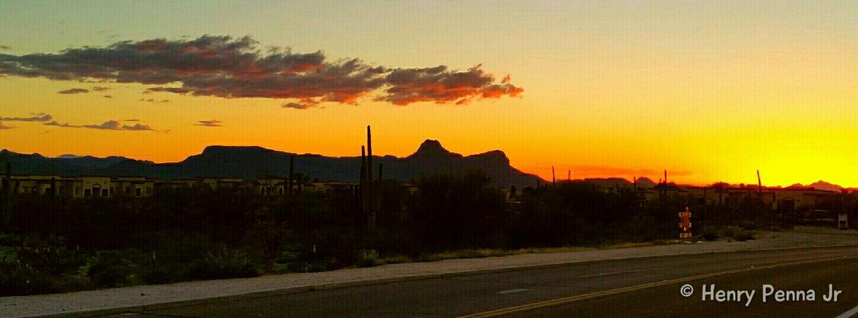 Tucson Arizona  Desert Landscape_photography EyeEm Best Shots - Sunsets + Sunrise Sunset Samsung Galaxy S5 Landscape Sunset Silhouettes Sky And Clouds Desert Landscape