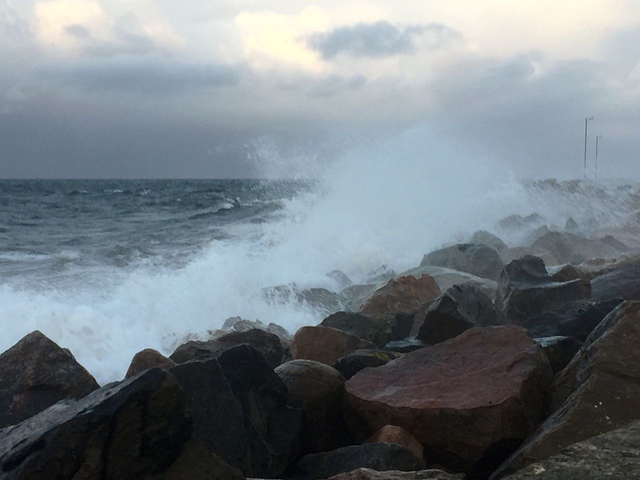 Sea Wave Nature Sky Storm Stormy Weather