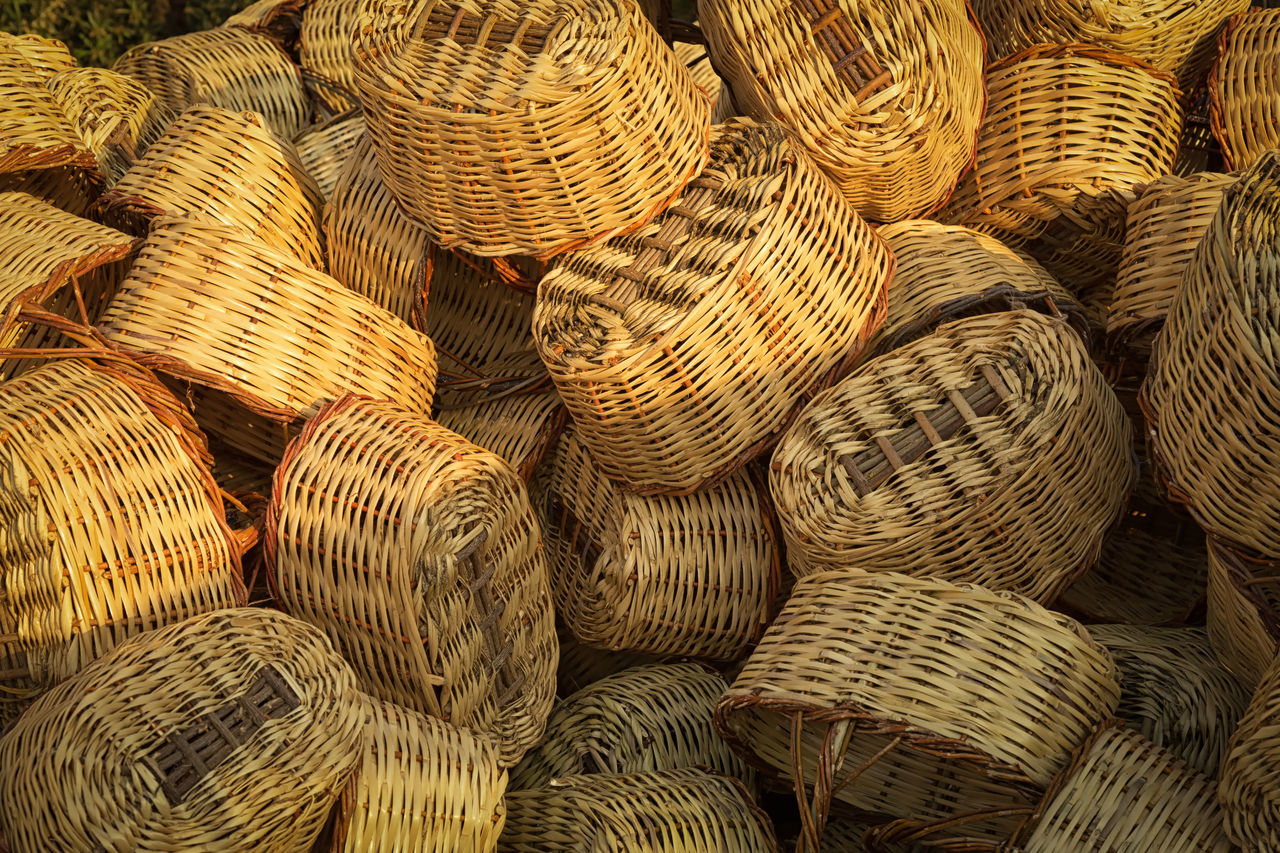 Handmade Baskets Abundance Artistic Backgrounds Bamboo Basket Close-up Containers Craft Craftsmanship  Creative Handicraft Inspired By Nature Mersin Turkey Natural Pattern Patterns Straw Textured  Turkey Wicker Wicker Basket Wickerwork Workmanship