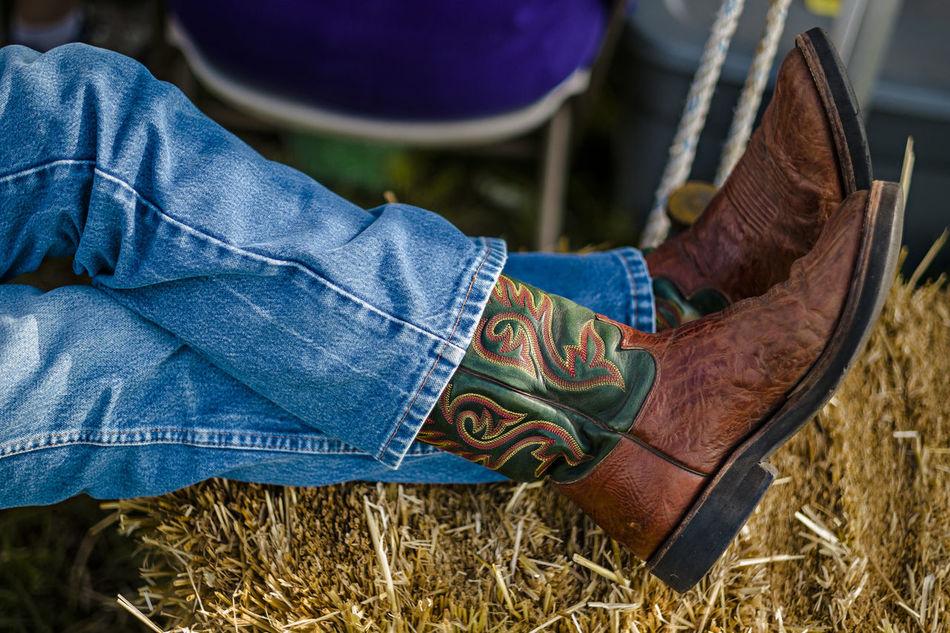 Beautiful stock photos of farm, Adult, Close-Up, Denim, Footwear