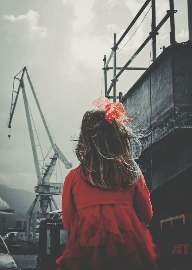 Little girl in Red, Astilleros de Bilbao Youth Of Today Streamzoofamily Eyemphotography VSCO AMPt_community NEM Submissions Capture The Moment Splash EyeEm Best Edits EyeEm Best Shots - The Streets