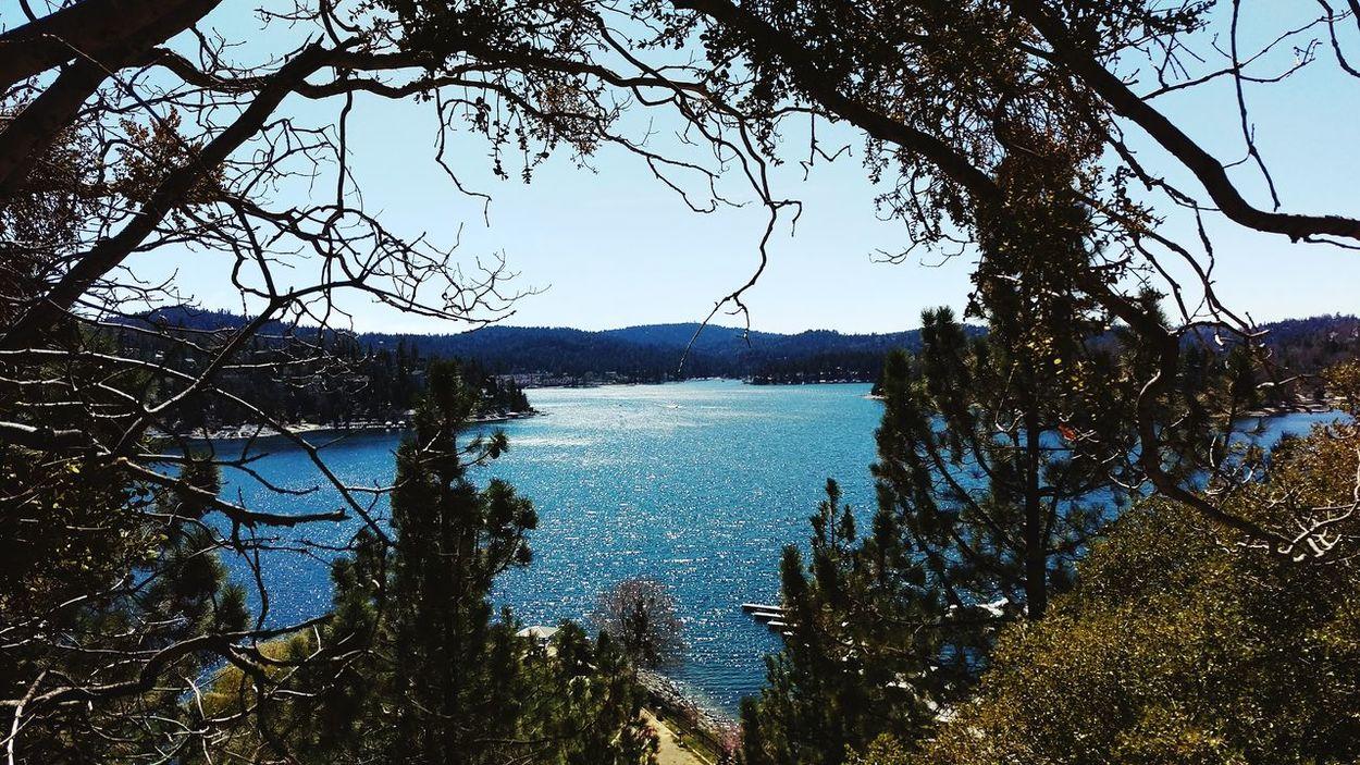 Lake Arrowhead Beautiful Day Lake Blue Sky Lake View Taking Photos Hikingadventures Water Mountains Beautiful Sky Amazing View Taking Photos High Life Enjoying Life Trees Hiking