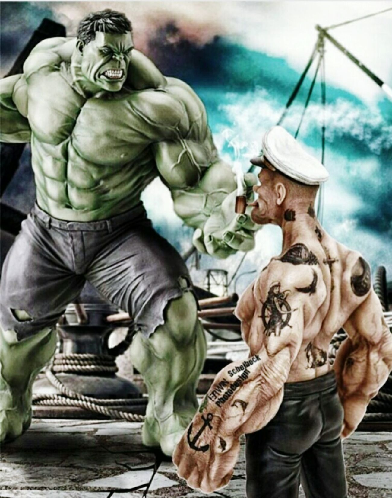 Hulk vs Popoye Gorilla Lifestyle Muscle 💪💪 HardBodies❤ Body & Fitness SuicideGirls