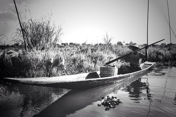 Taking Photos at Lake Inle by Henrique Santos