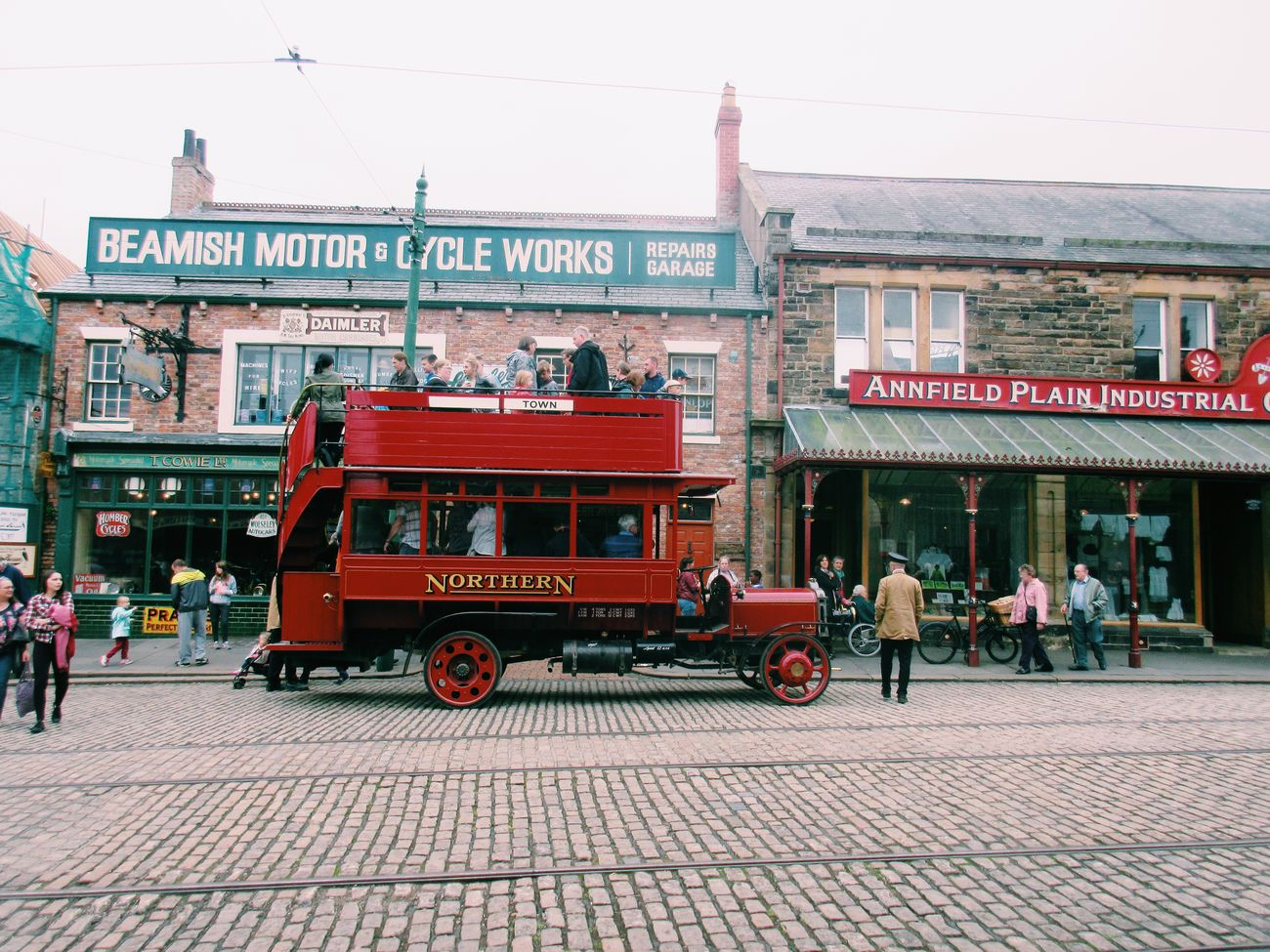 Beamish Museum Buses History Outside Photography Colour Photography 1900s