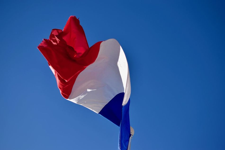 Clear Sky Flag French Flag French Riviera Motion Nice Nice France No People Outdoors Patriotism Sky