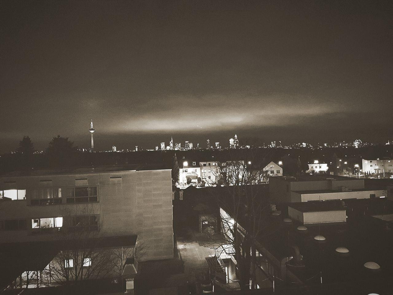 Skyline Frankfurt Night Lights Night