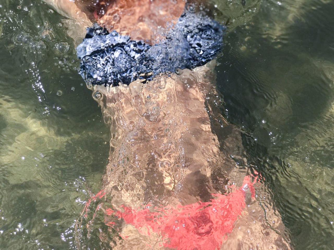 Beachphotography Bikini Girl Holidays Lifestyles One Person Outdoors People Splashing Swimming Vacation Water