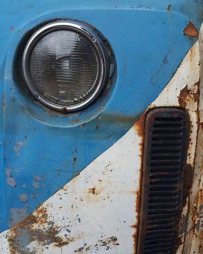 I'm still awake Camper Volkswagen Rust Vintage Blue White