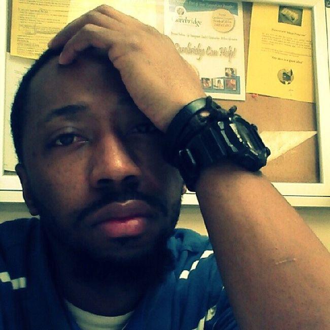 At work lastnite, tired!!! OnAhMission .