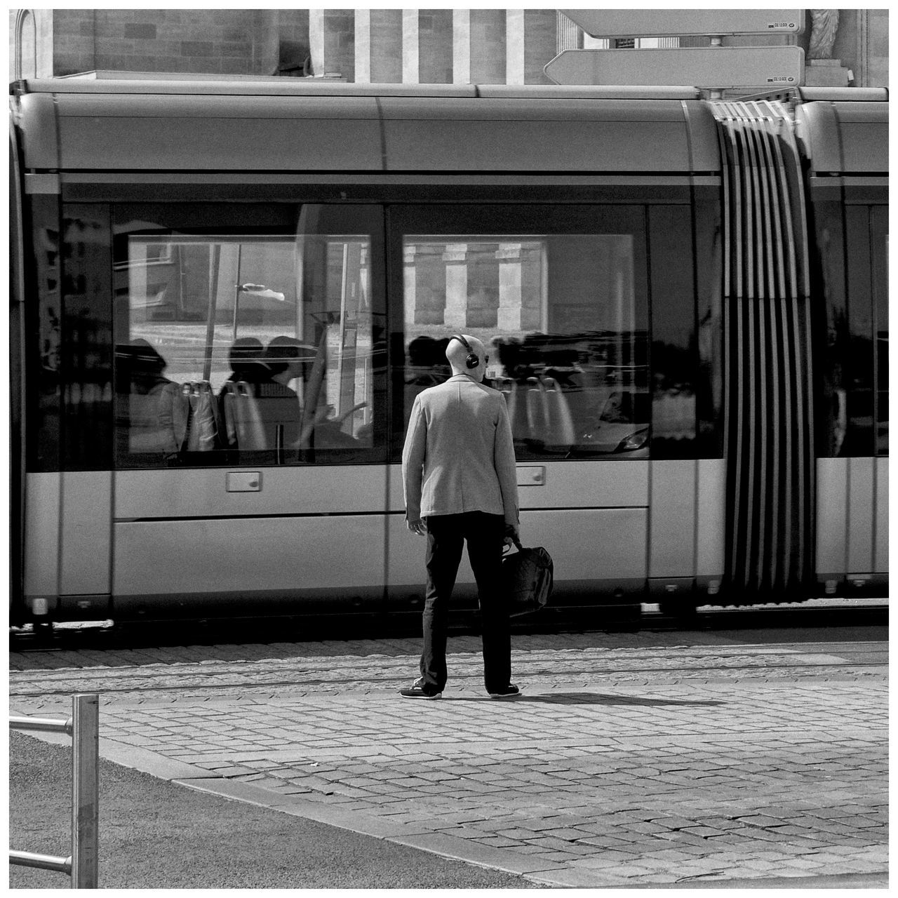 The Street Photographer - 2016 EyeEm Awards Street Photography Streetphoto_bw Black And White Street Life Man Tramway Square Format Lovers The Drive Take Over Music The City Light The Street Photographer - 2017 EyeEm Awards